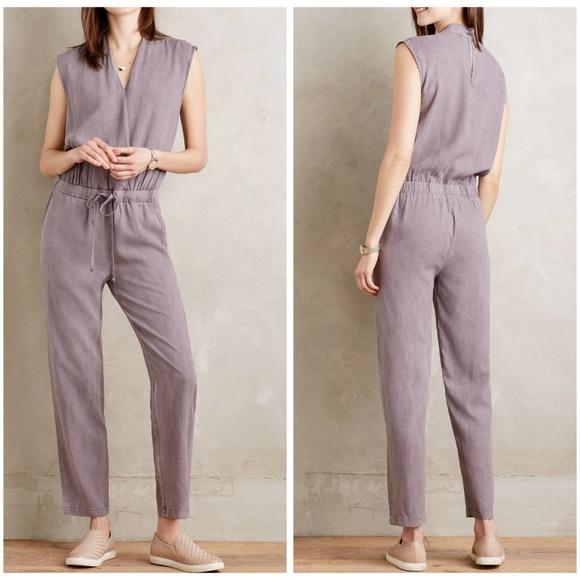 4f67faa42750 Anthropologie Pants | Mignon Crossfront Jumpsuit Purple | Poshmark